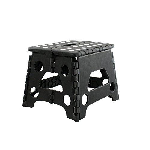 Tritthocker Klapphocker Fußbank Kinderhocker Klapptritt Trittbank Sitzhocker Klappstuhl (Höhe: 20 cm - belastbar bis 80 kg)