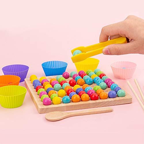 ATopoler Montessori-Holzspielzeug, hölzernes Kinderspielzeug mit Puzzleperlen,...