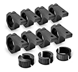 Nilight 8PCS Horizontal Bar Clamp Mounting Bracket Kit for Off-Road LED Light Bar on Roof Rack Roll Cage Holder,2 Years Warranty (90021H)