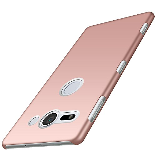 Anccer Coque Sony Xperia XZ2 Compact [Serie Mat] Resilient Conception Ultra Mince et Absorption des Chocs Coque pour Sony Xperia XZ2 Compact [Serie Mat] (Or Rose Lisse)