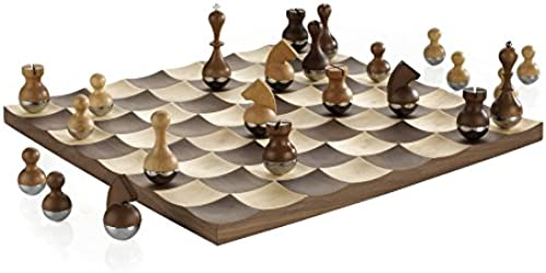 Umbra 377601-656 Wobble Chess Set Walnut