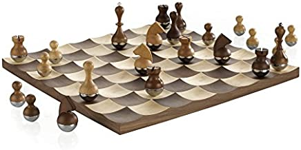Umbra Wobble Chess Set, Brown