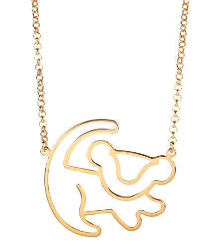 Disney Couture Kingdom Classic Lion King Gold-Plated Simba Outline Necklace