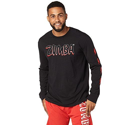 Zumba Hombre Hero Camiseta de Manga Larga, Hombre, Color Bold Black, tamaño XS