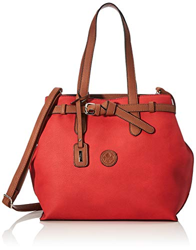 Rieker Damen Handtasche H1070, Rot (Rosso/braun), 330x110x310 cm