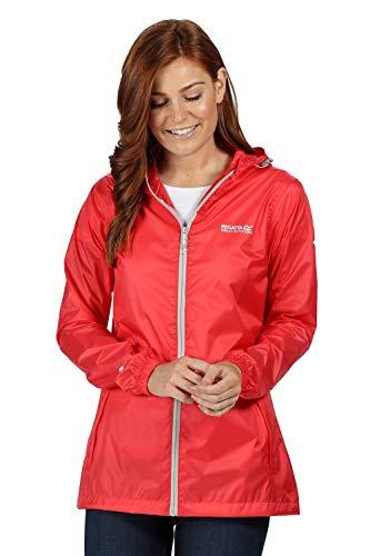 Regatta Veste Technique compactable Pack IT III légère, imperméable et Respirante avec Capuche Ajustable Jackets Waterproof Shell Femme, Red Sky, FR : 2XL (Taille Fabricant : 20)