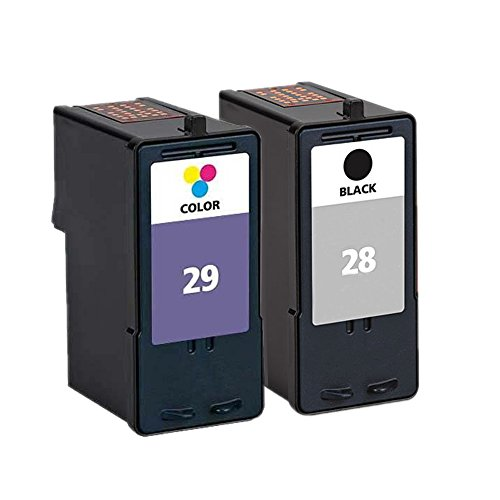 ESTON 2 Pack Replacements for Lexmark 18C1428E 28 Black and 18C1429E 29 Color Ink Cartridges for Use with for X2550, X5070