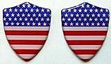 3D Doming Aufkleber Wappen USA (2er Set)