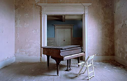 LIZELUO Malen Nach Zahlen Klavier Im Kaputten Haus Einzigartige Geschenke Moderne Home Decoration 40x50cm