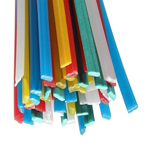 Ztengyu-Varillas para soldar Barras de Soldadura de plástico de 50 pcs de 25 cm de Longitud, para Soldador Soldador, palitos de Soldadura Pap/PVC de Carga de PVC, palitos de Soldadura, Rendimiento e