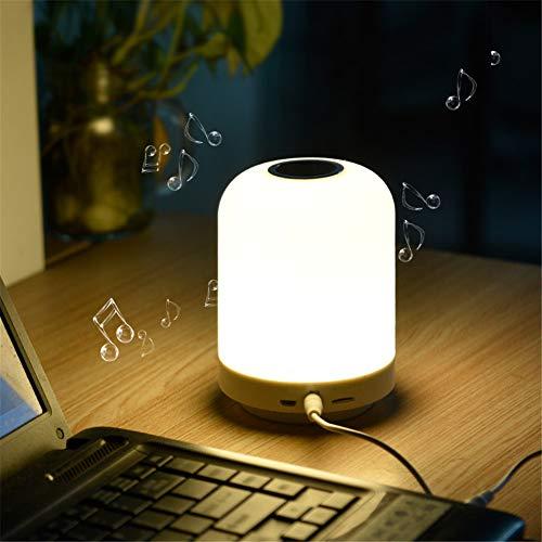 Preisvergleich Produktbild ZOYNZ Kreative Multifunktions-Bluetooth-Audiotischlampe Der Mode Mit Zeitanzeige Berühren Sie Das Verdunkeln Des Sensorbettlichts