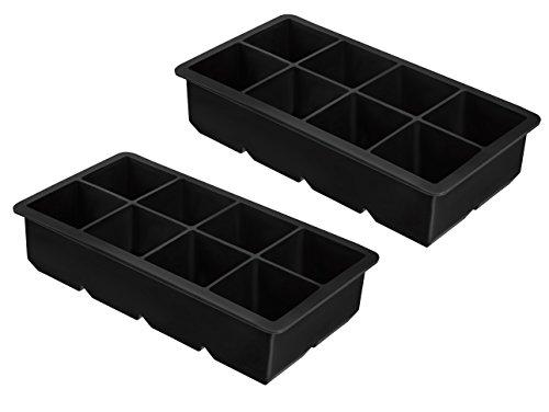 2er Pack XXL-Eiswürfelform für je 8 Eiswürfel, 5x5 cm Eiswürfel, riesige Eiswürfelform