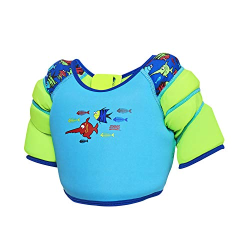 Zoggs Unisex -Kinder Swimming Float Vest Water Wing' Schwimmweste, Blau/Sea Saw, 1-2 Jahre (11-15kgs)