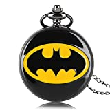 BATMAN PATTERN - if you like batman , you must choose one as an anniversaty Gift or send your friends who love batman. QUARTZ MOVEMENT BRONZE COLOR- This pocket watch is kind of watch used on quartz movement in order to assuring the time exactly. SET...