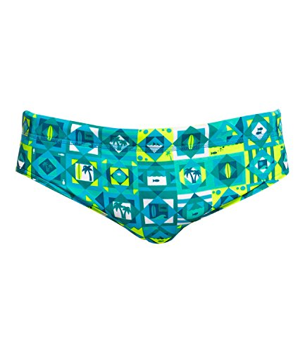 Funky Trunks - Bañador de natación - para Hombre Lime Light S