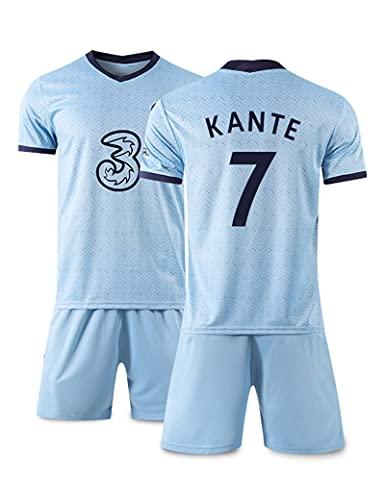 FDSNFV Herren Fußballtrikot for Kinder Männer Football Soccer #7 Kante Home Football Shirt 2020/21 T-Shirt Shorts for Kinder Männer Fußball Uniform