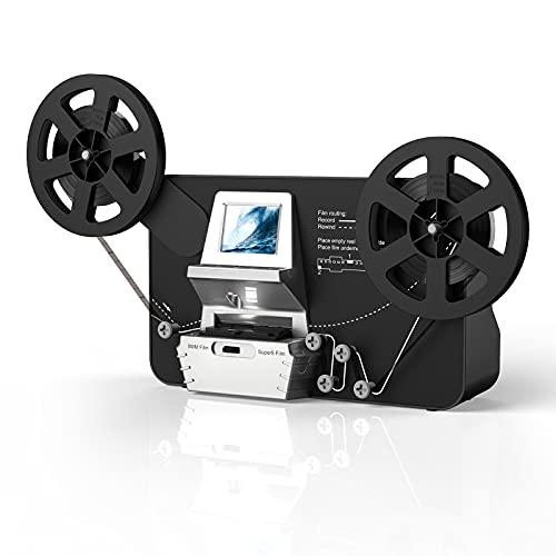 escáner de película Super 8 – Normal 8 Incluye Tarjeta SD de 32 GB digitalizador de película Digitalización Super 8 Digital Film Converter HD 1080P 2.4''LCD