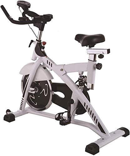 Cyclette Volano da 16 kg con Trasmissione A Cinghia Sensori di Frequenza Cardiaca A Resistenza Magnetica Display LCD Sedile Regolabile mwsoz