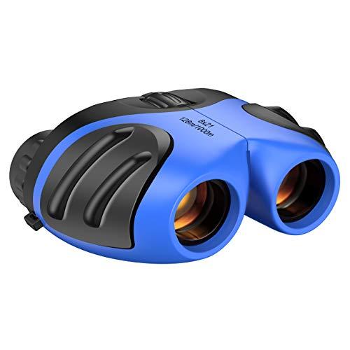 DMbaby - Prismáticos compactos para niños de 7 a 8 años, para Viajes al Aire Libre, Caza, niños, Regalos de 3 a 12 años, Juguetes para niños de 3 a 12 años, Azul DL02