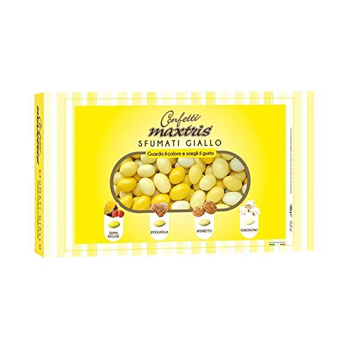 Confetti Maxtris , Sfumato Giallo, 1 kg - 1000 gr