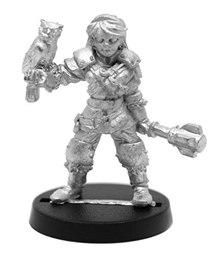 Stonehaven Female Half-Elf Cleric Miniature Figure (for 28mm Scale Table Top War Games) - Made in US