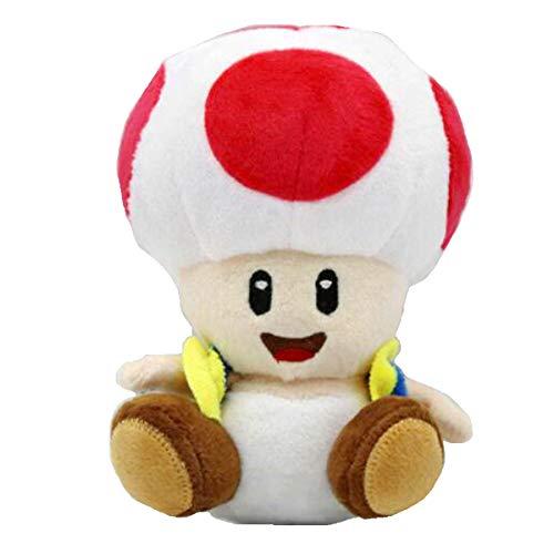 Meijiada Super Mario Bros Red Toad Brigade Mushroom Kingdom Plush Toy Stuffed Animal 6'