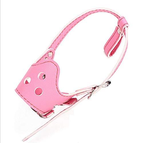 Wuwei Maulkorb Hunde Pu Anti,für Kleine Mittlere Große Meistens Hunde(Pink M 20-50 Kg)