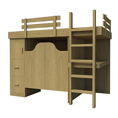 3in 1Etagenbett Pläne DIY Schreibtisch Brust Lagerung Organizer Workstation Holz