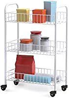 Metaltex 340633 Service Trolley Siena with 3 Stages, Metal, White, 23 x 41 x 63 cm