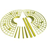 KUQIQI 10pcs / Set Instalación de Herramientas de plástico Cultivo de Las Fresas Soporte Círculo Marco Soporte de Agricultura jardinería Vine (Color : Amarillo)