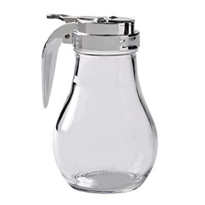 Thunder Group Syrup Dispenser with Cast Zinc Top, 14-Ounce