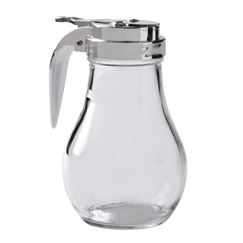 Syrup Dispenser with Cast Zinc Top, 14-Ounce