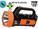 Pick Ur Needs® Rocklight 75w Laser Blinker Emergency Rechargeable Waterproof Bright Led Torch