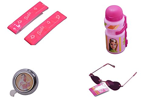 GIRLIE BIKE ACCESSORY GIFT PACK BELL,COOL SUNGLASSES,ARM BANDS & BOTTLE WITH CAGE PINK GREAT PRESENT