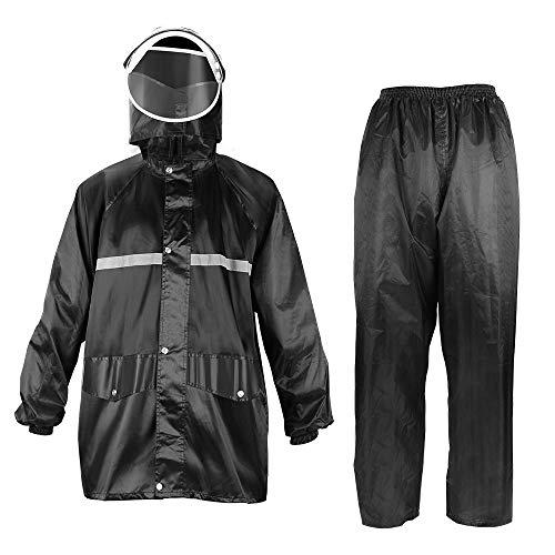 kemimto Motorcycle Rain Suit Waterproof Rain Jacket and Pants Set - XXX-Large