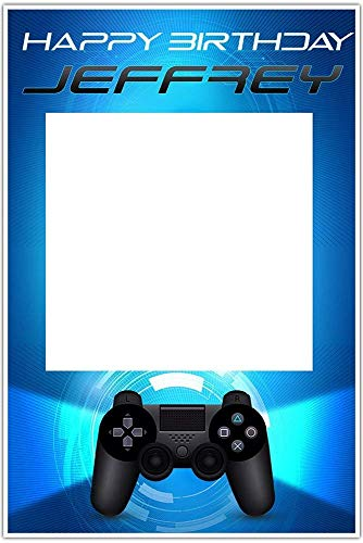 Video Gamer Birthday Selfie Frame Social Media Photo Booth Prop Party Poster