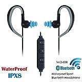 ZENWEN Mini Bluetooth Kopfhörer Ohr hängen Sport Schwimmen wasserdicht Funkmikrofon Unterwasser binaurale Stereo Wireless blau Zahn-Ohrstöpsel