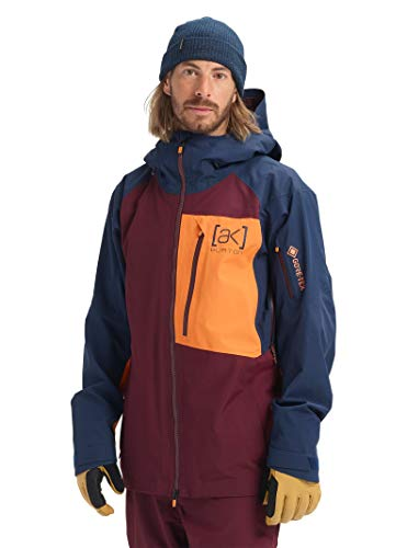 Burton Mens Ak Gore-Tex Cyclic Jacket, Port Royal/Dress Blue/Russet Orange, Large