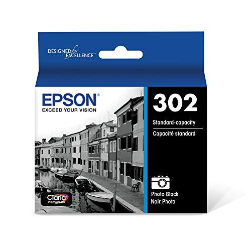 EPSON T302 Claria Premium Ink Standard Capacity Photo Black Cartridge (T302120-S) for Select Epson Expression Premium Printers