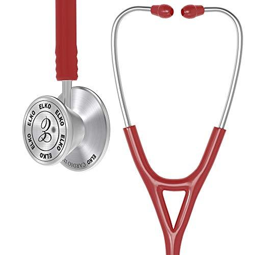 ELKO EL-060 CARDIO III SS Stainless Steel Head Acoustic Stethoscope (Red)