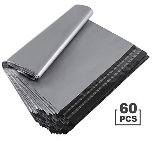 Anstore 60 Versandbeutel Plastik Versandtaschen 300x400mm, selbstklebend und blickdicht, Versandtüten aus Plastik für Kleidung und Textilien, Silber