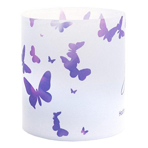 Tischkarte Windlicht Schmetterling Lila mit Druck: Platzkärtchen, Tischkärtchen, Tischdeko für Hochzeit, Geburtstag, Taufe, Kommunion