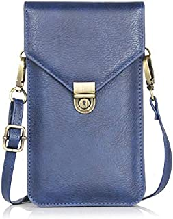 小号女式手机钱包斜挎单肩包,带 2 个袋卡袋,适合旅行、工作、购物。