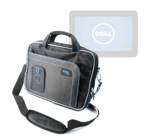 DURAGADGET Housse de Transport/Sacoche avec bandoulière Amovible pour Dell XPS10 TM 8060A Tablette Tactile 10' - Noir/Bleu et Garantie 5 Ans