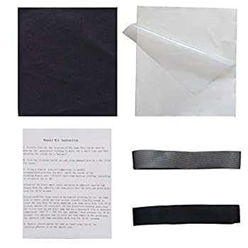Iron-on Adhesive Tape Waterproof Clothing Repair Kit First Aid Four Layer Breathable Nylon Oxford Patch for Fixing Outdoor Fabric Rips Tears and Holes