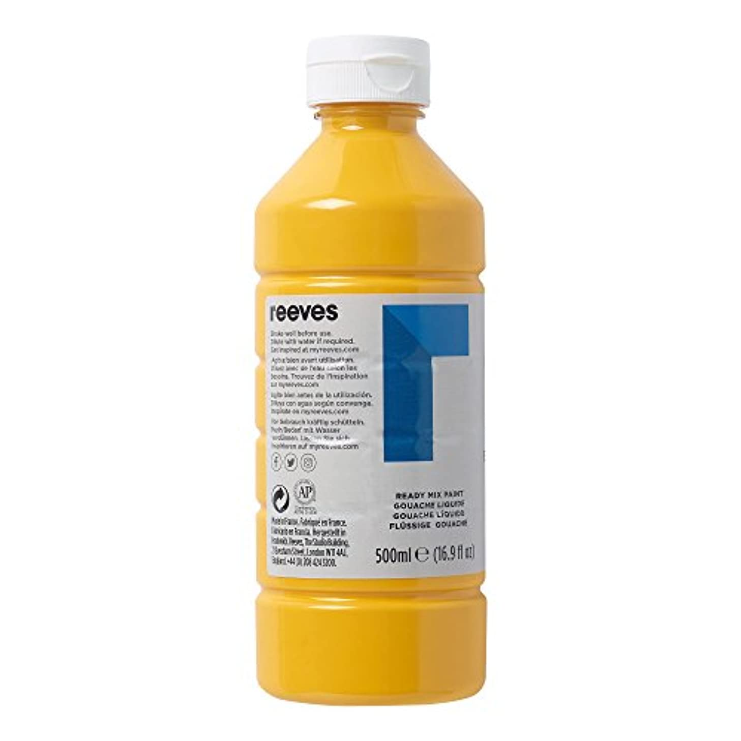 Reeves : Ready Mix Paint : 500ml : Brilliant Yellow