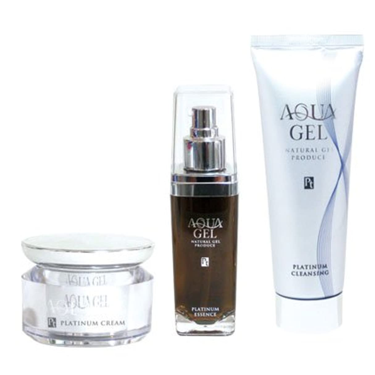 折ながら故意の白金ナノコロイド化粧品アクアゲル基礎化粧品Bセット洗顔?美容液?クリーム