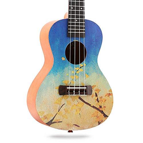 23-Zoll-Ukulele, Ukulele-Gitarre, Palisander-Ukulele, gemalter Stil,A,23inch
