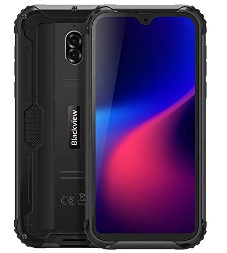 Teléfono Robusto (2019) Blackview BV5900, Diseño de Cápsula Espacial, 5.7 Pulgadas HD + Android 9.0 Móvil, IP68 Impermeable/Antigolpes, Modo de Cámara Subacuática, 3GB + 32GB, NFC, 5580mAh Negro