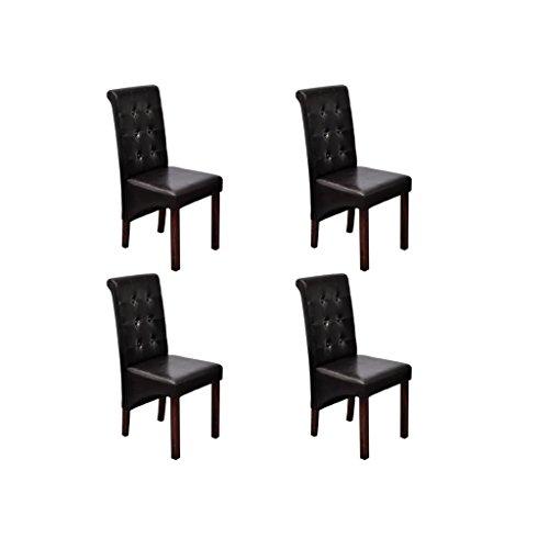 Zora Walter Juego de 4Comedor St ¨ ¹ HLE clásico Color marrón Salón Silla Dining Room Chairs Juego konferenzst ¨ ¹ HLE B ¨ ¹ rostuhl K ¨ ¹ chenstuhl Visitantes de Silla